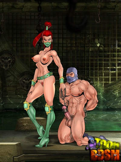 Mortal Kombat bitches enjoying extra large shafts